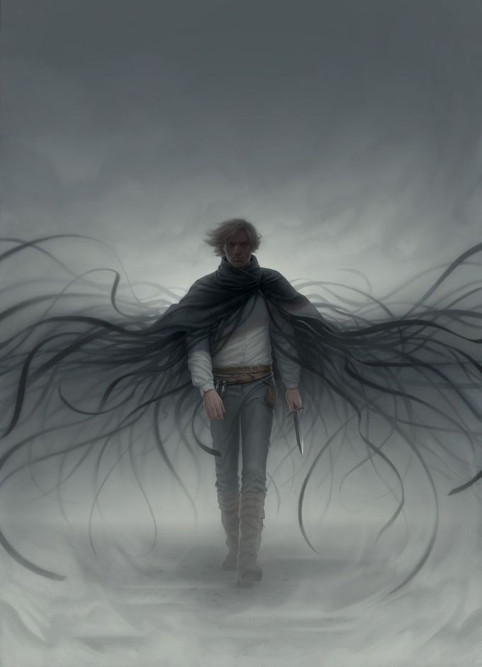 Mistborn: Secret History book cover by Miranda Meeks  (Kelsier)  This is the most beautiful Kelsier art i have ever seen. ever.