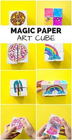 HOW TO MAKE A MAGIC PAPER ART CUBE