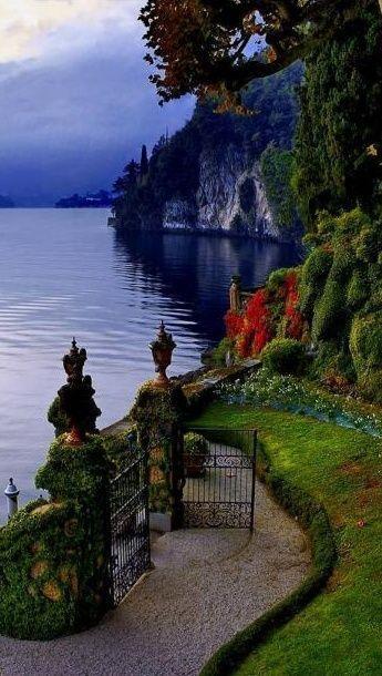 大门通往意大利科莫湖