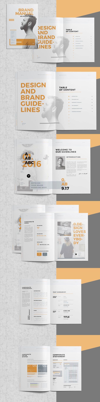 Brand Manual Brochure Template InDesign INDD