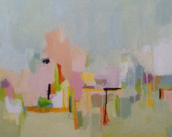Art large abstract painting acrylic painting, pamela munger, contemporary art, modern art, pastel colors, spring colors