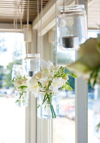 21 DIY户外和悬挂装饰理念|五彩纸屑白日梦 - 用这个DIY挂玻璃瓶装饰创意创造美丽的视觉效果♥#DIY #OutdoorDecor #HangingDecor