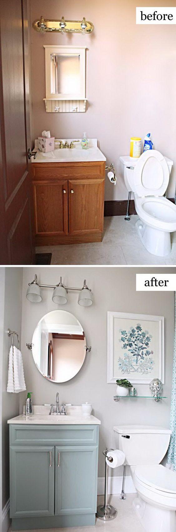 越来越厌倦你过时的浴室?我们有很好的DIY浴室的想法来激发你的装修计划。无论你想要一个平房农舍浴室改造,budg
