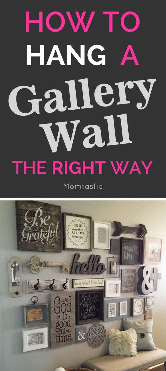 请阅读下面的分步说明,了解如何正确挂上画廊墙(并避免混乱的错误)。