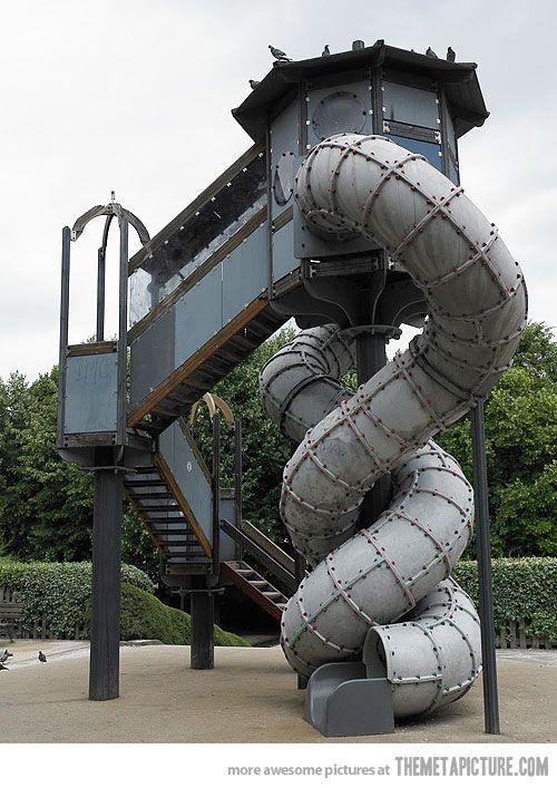 Steampunk slide for children