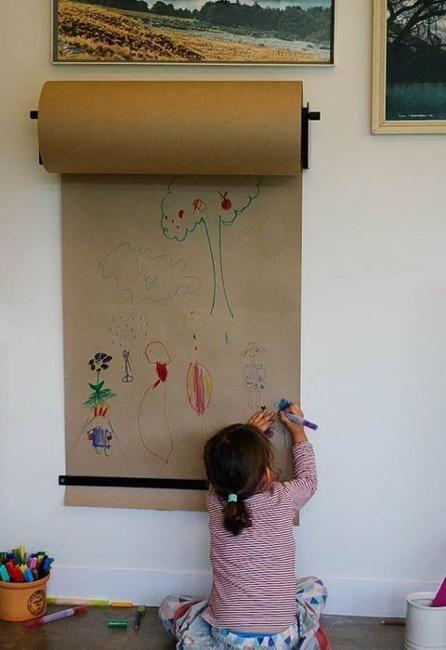 现代儿童卧室装饰和年轻艺术家的儿童游戏室理念呼唤明亮,新鲜和令人惊讶的解决方案,丰富多彩的设计和创意细节