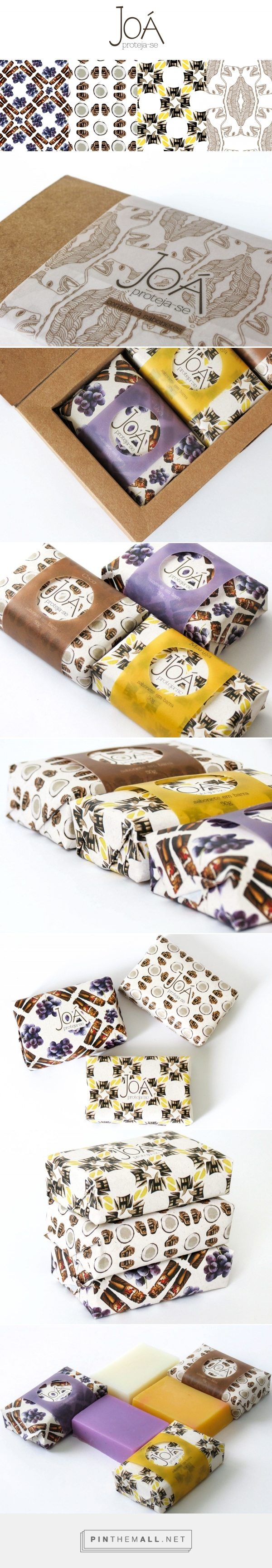 Graphic Design, Packaging, Pattern Design for Superfícies de um lugar on Behance by Jéssica Magalhães Belo Horizonte, Brazil curated by Packaging Diva PD. Gorgeous patterned soap packaging.
