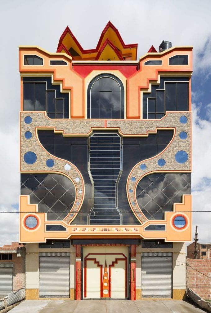 Freddy Mamani Silvestre. Folk meets future in sixty projects in El Alto, Bolivia, the world's highest city. He designs in an Aymara (indigenous) vernacular of his own invention.