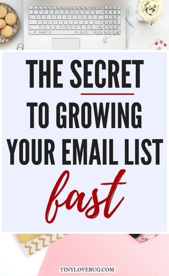 您的电子邮件列表是您作为博客作者最有价值的资产和最强大的营销工具。这是快速发展您的电子邮件列表的秘诀!