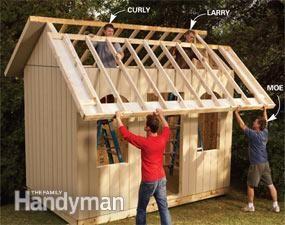 可打印的计划和材料清单向您展示如何建造一个精通美元且充满储存的棚屋。