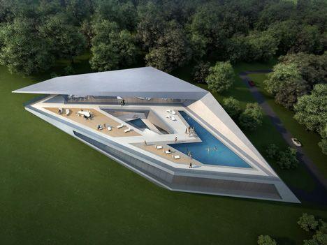Zaha Hadid Architects的杜布罗夫尼克高尔夫和温泉俱乐部的原型别墅