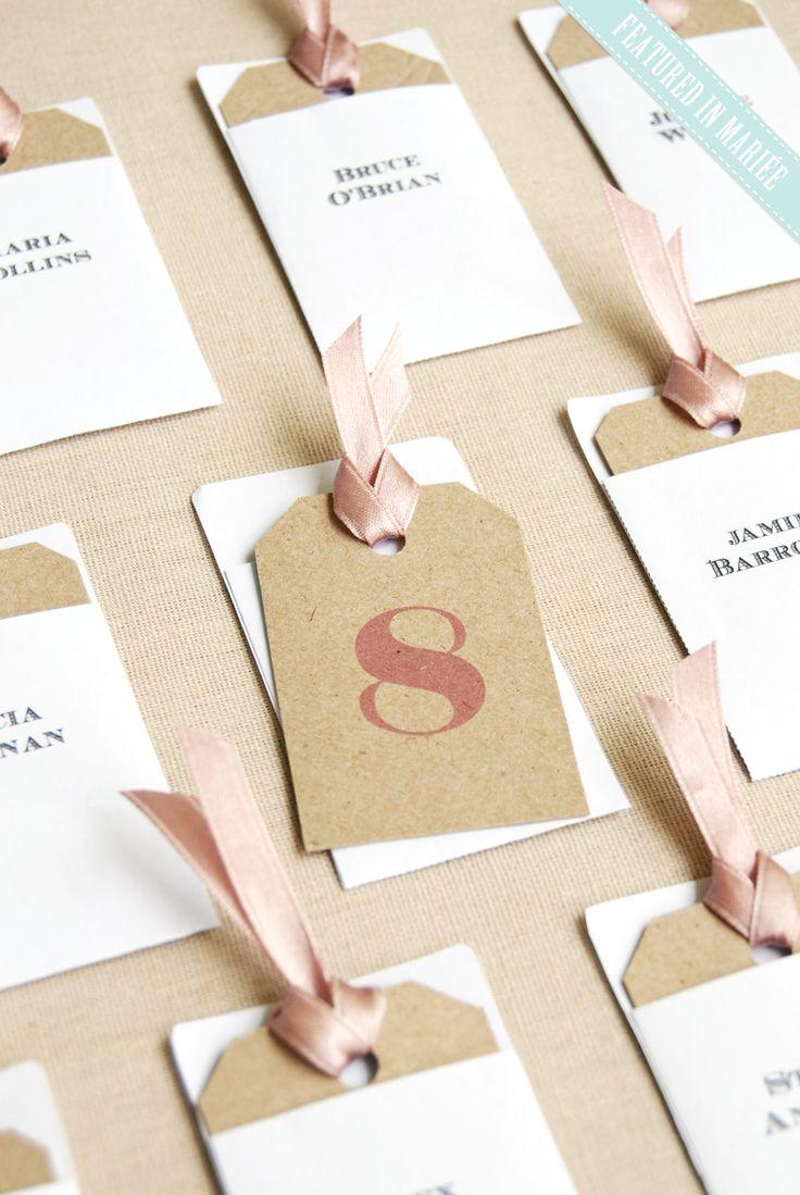diy wedding escort card标签 可打印的模板