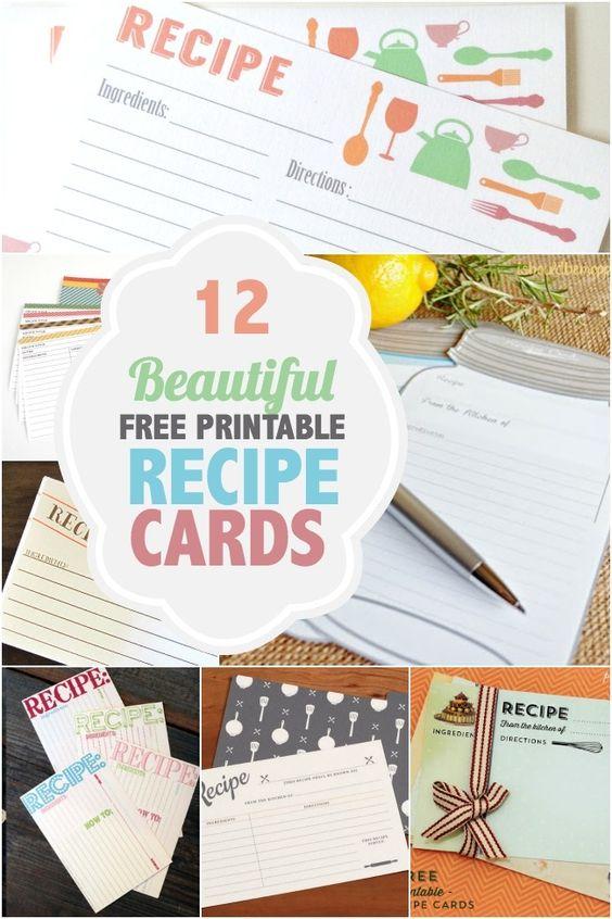 你的食谱卡片看起来是小耳朵吗?看看这些免费打印的食谱卡片,并获得一些可爱的新食谱!