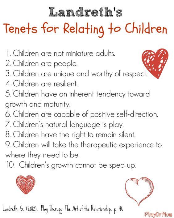 你对孩子的看法是什么? PlayDrMom讨论了重要性并分享了Landreth与孩子有关的原则。