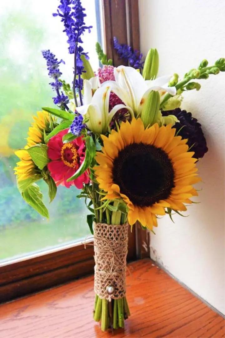 如何制作自己的野花#Wedding Bouquet #DIY #budgetwedding