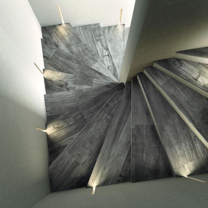 wood effect porcelain tile Dolphin Grey 1200x200mm