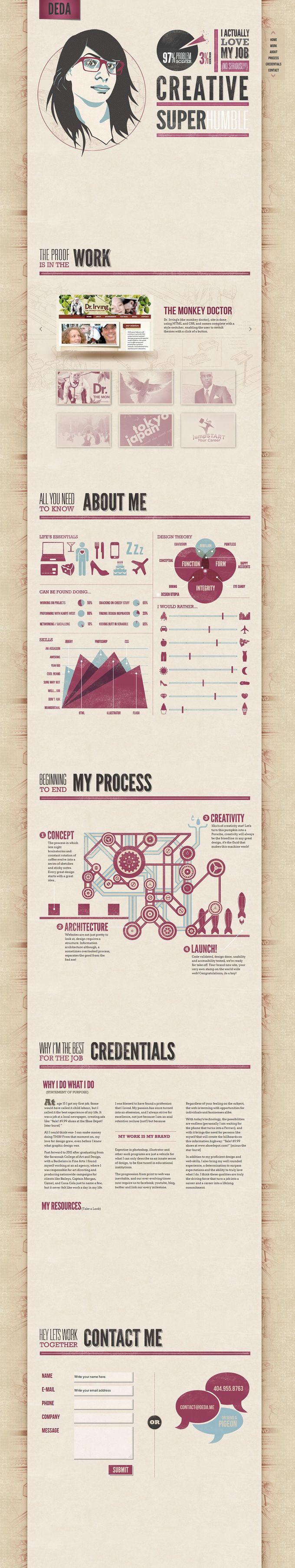Creative Website Design - Personal Portfolio