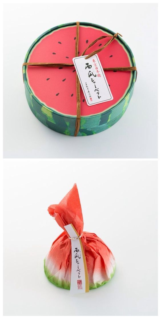 Japanese watermelon candy packaging