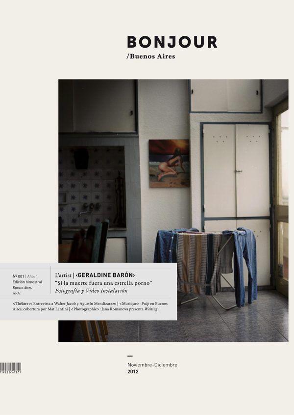 bonjour, photo & art magazine by iara kremer, via behance.
