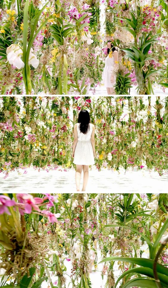 ART SCOUT: Floating Flower Garden installation