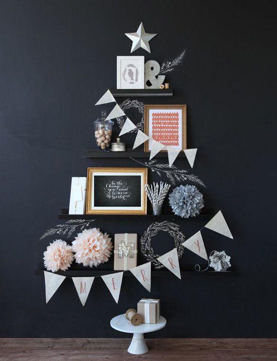 小空间解决方案:微小家园的创意圣诞树创意