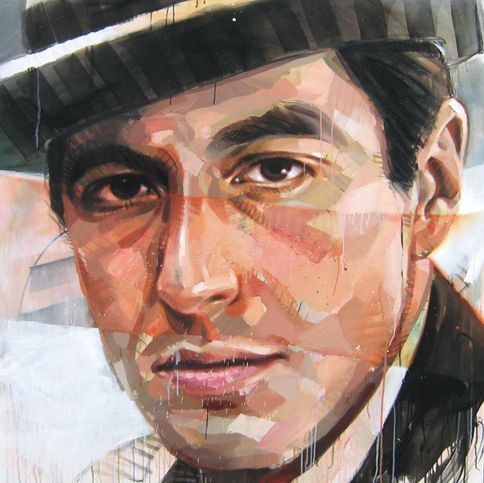 Al Pacino Pascal Vilcollet studied graphic design and taught himself to paint at age 16.