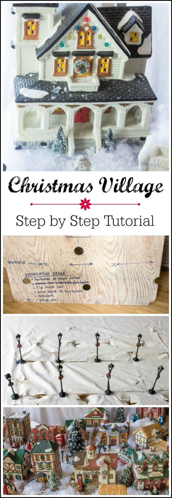 一步一步说明如何创建一个微型圣诞村庄显示与节俭的省钱技巧。孩子们老少都会喜欢它!