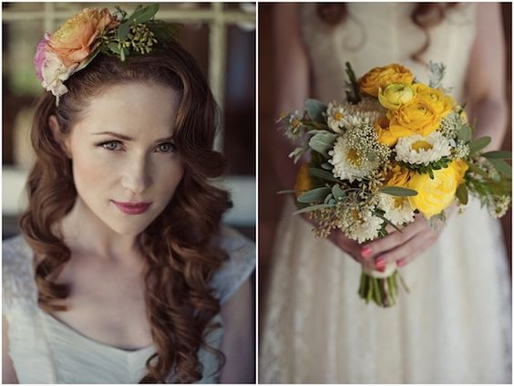 Vintage Wedding Dress & Floral Accessory Inspiration