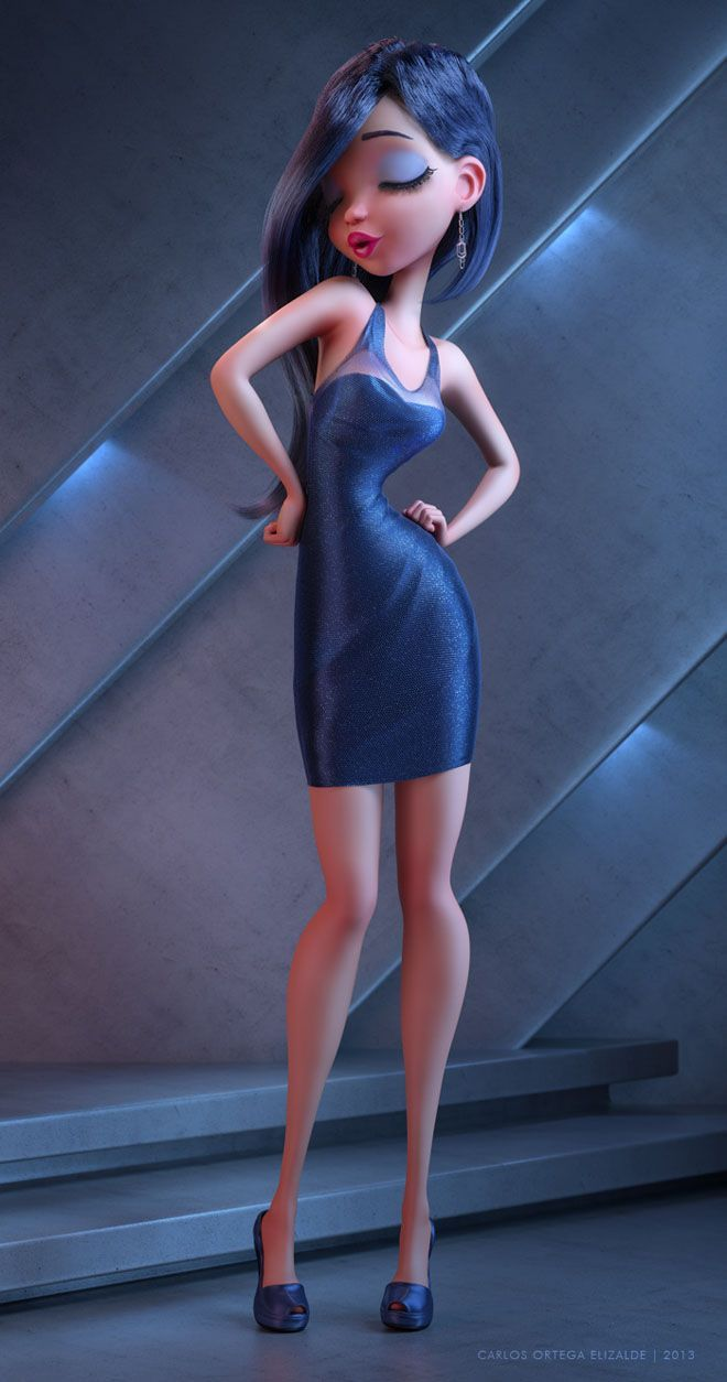 25 Beautiful Fantasy 3D Models and Character designs by Carlos Ortega