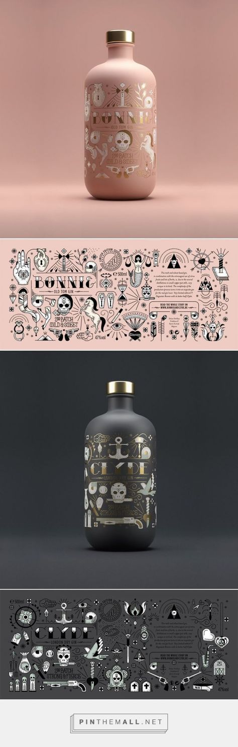 Bonnie & Clyde Gin is All You Need in this Life of Sin Designed by Pearly Yon