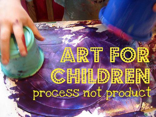 儿童艺术:所有关于过程而不是产品