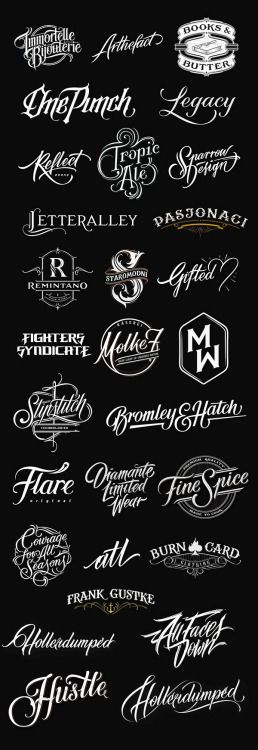 Typeverything.com  -  Handlettered Logotypes by ...