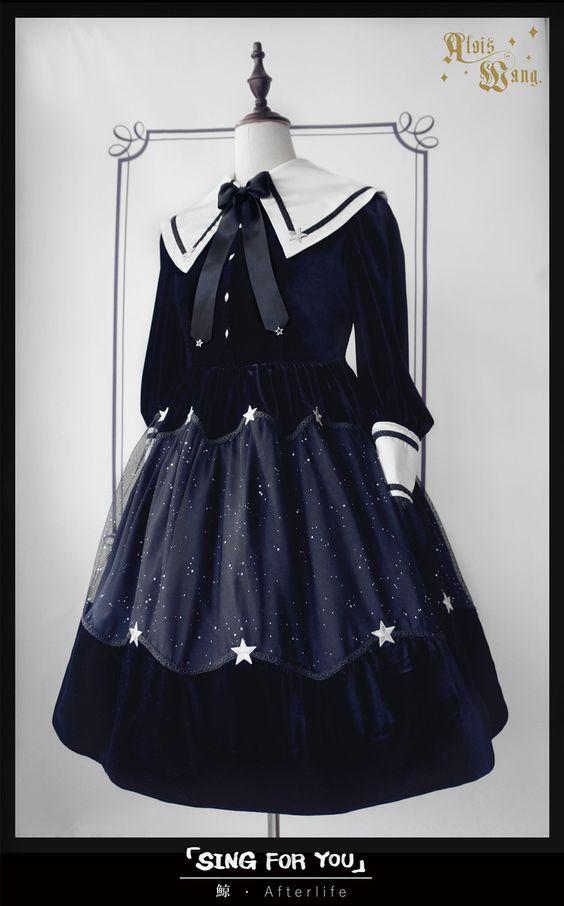 AloisWang -Quiet Night and Starry Sky- Lolita OP Dress