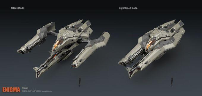 ArtStation - Trident Bomber, Fan Zhang