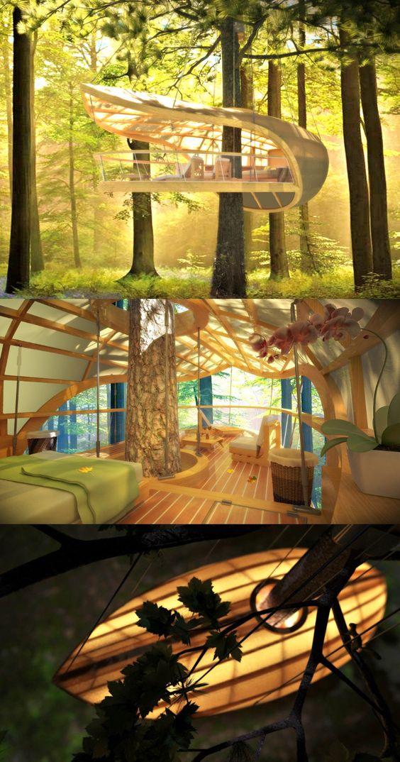 E'terra Samara由Farrow Partnership工作室设计,是一座五星级生态度假村,由十二座树屋别墅组成,十分安静地坐落在加拿大森林中。