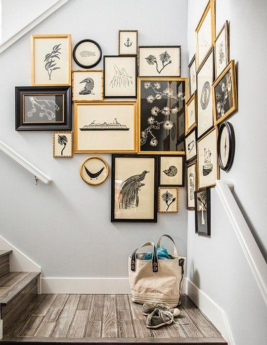 如何用Gallery Wall装饰一个尴尬的空间|公寓疗法