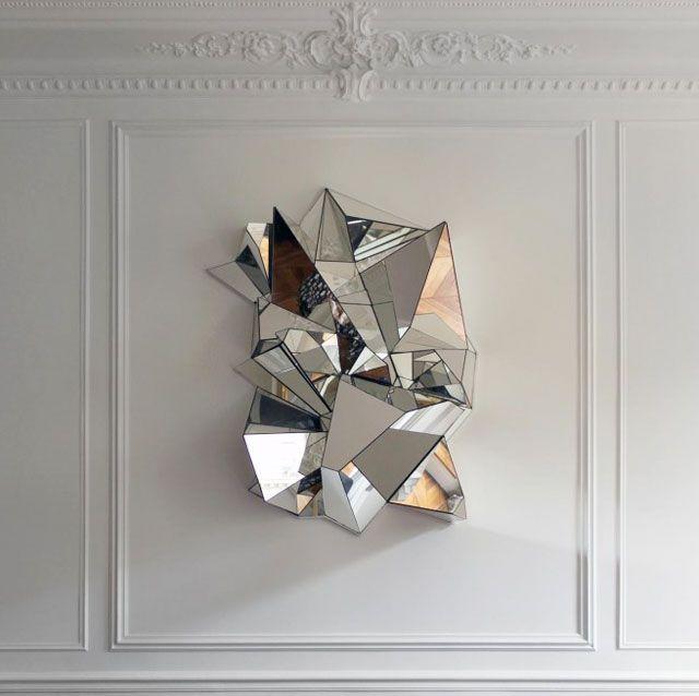 Froissé mirror // Designed by Paris-based Hungarian artist Mathias Kiss.