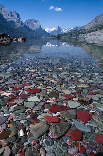 圣玛丽湖,冰川国家公园,蒙大拿州