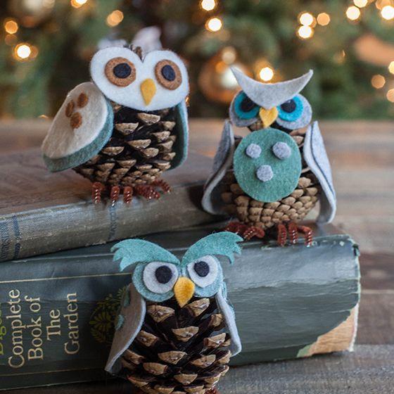 制作自己的松锥猫头鹰饰品!按照我们简单的分步教程,下载我们的模板,为整个家庭带来节日乐趣......