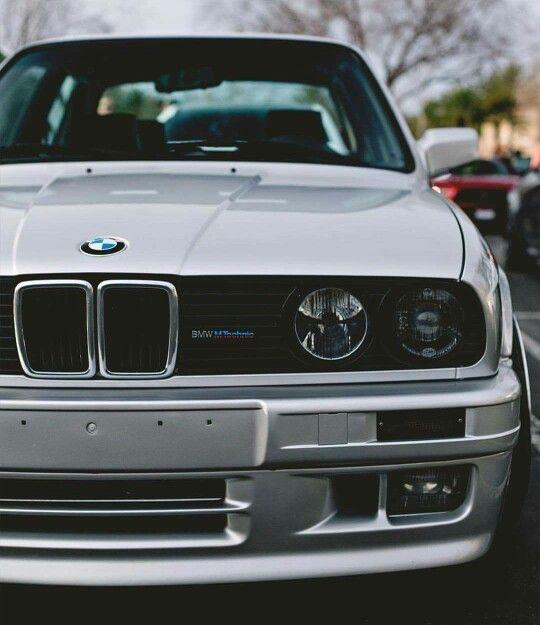 BMW E30 3 series silver