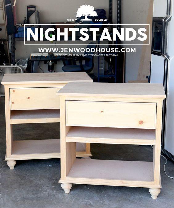 DIY床头柜床头柜 - 了解如何使用Jen Woodhouse的分步教程和建筑计划制作DIY床头柜。