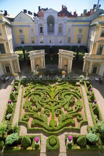 巴洛克式的庭院Tessinka宫殿,斯德哥尔摩