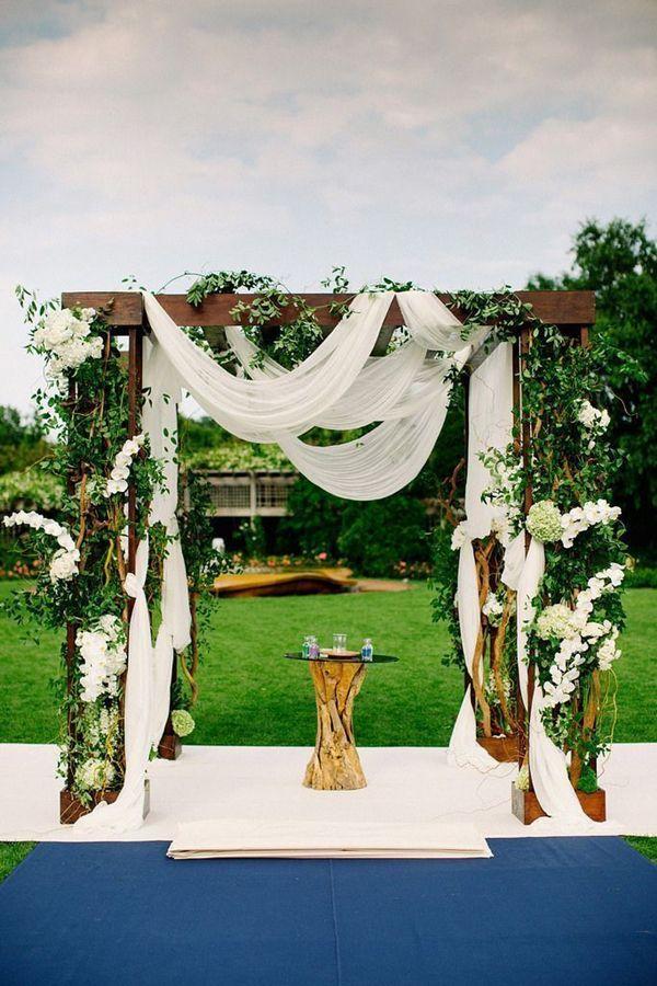 可爱的户外花园婚礼