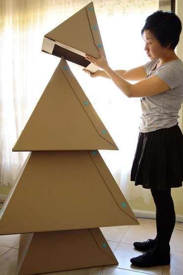 DIY纸板圣诞树