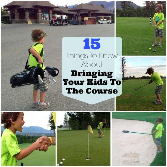 将孩子带到高尔夫球场通常可能会被人诟病,但在带孩子到球场周期间,这是受到鼓励的。你应该试试。
