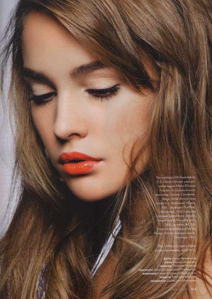 灵感|夏天的橘红色的嘴唇