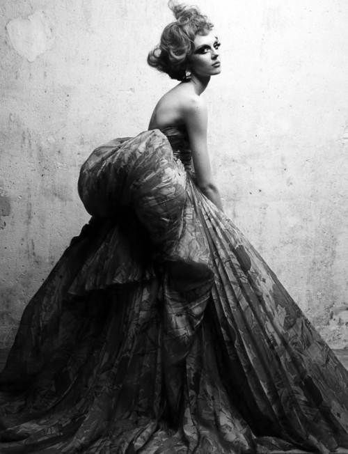 Olga Sherer in Dior by Patrick Demarchelier.