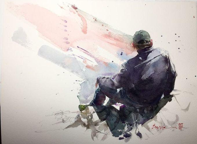 Watercolor - Correia Eudes
