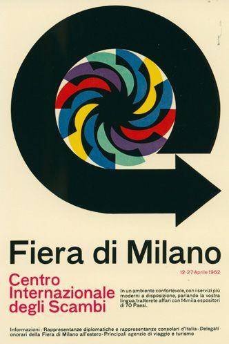 manifesto ufficiale della Fiera Campionaria di Milano, Ezio Bonini 1962