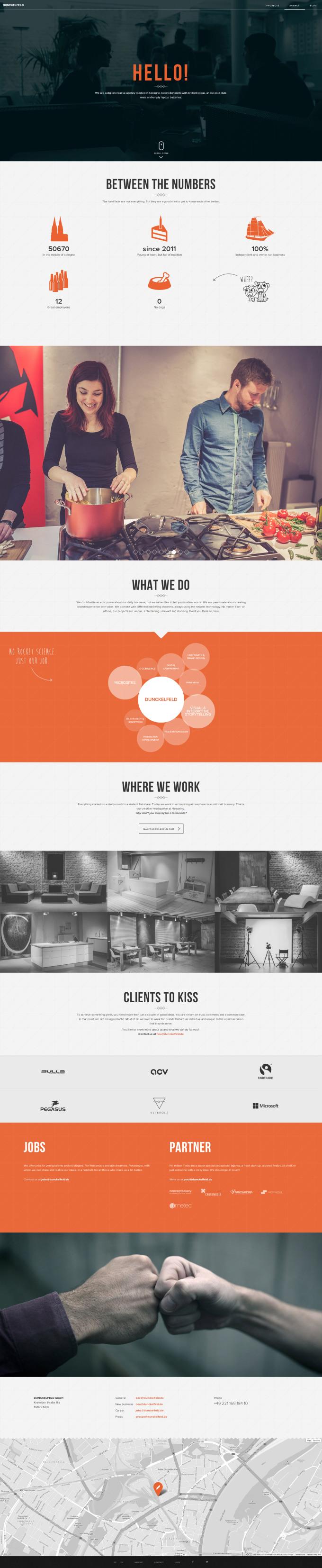 Unique Web Design, Dunckelfeld via @gosubberlin #WebDesign #Design